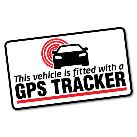 Gps Tracker Fitted Warning Sticker