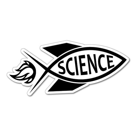 Rocket Jesus Fish Science Sticker