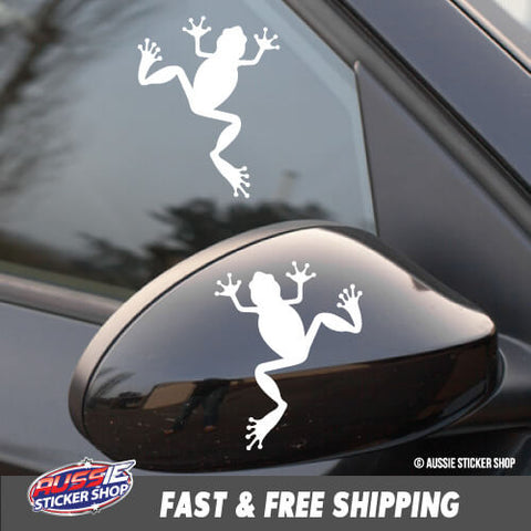 2X Frogs Car Laptop Sticker