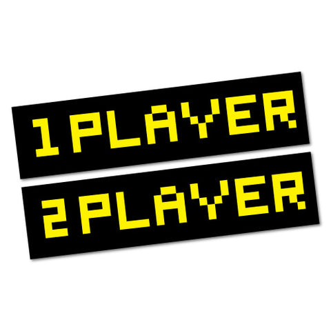 1 Player 2 Player Laptop Sticker