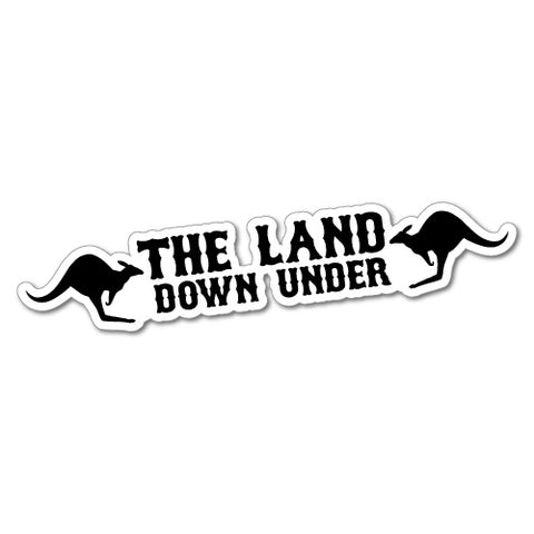 Australia The Land Down Under Sticker