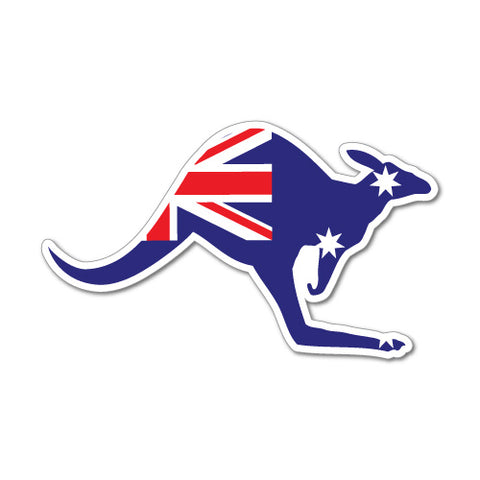 Kangaroo Australian Flag Sticker