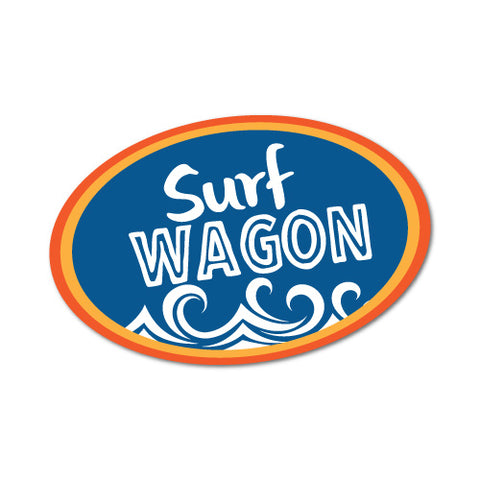 Surf Wagon Sticker