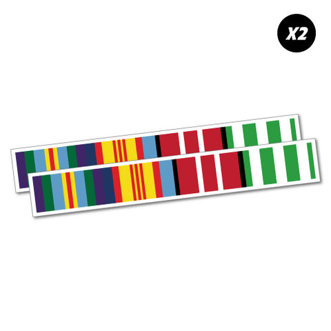 2X Vietnam Ribbons Veterans Sticker
