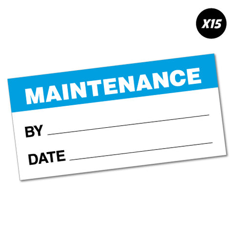 15X Maintenance Inspection Service Sticker