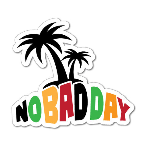 No Bad Day Palm Tree Sticker