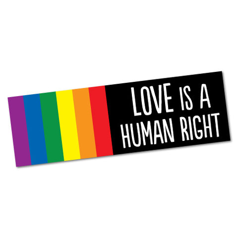 Love Is A Human Right Equal Marriage Rights Sticker