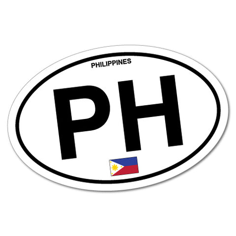 Philippines Country Code Filipino Oval Sticker