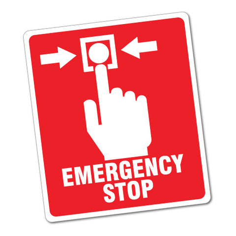 Emergency Stop Button Sticker