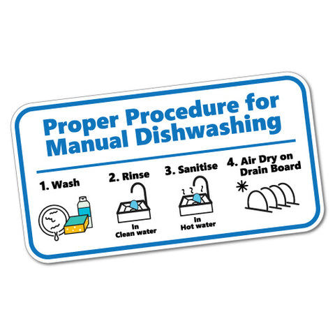 Dishwashing Procedure Housekeeping Restaurant Sticker