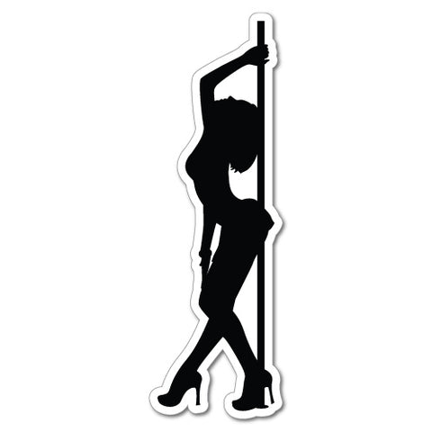 Sexy Pole Dancer Sticker