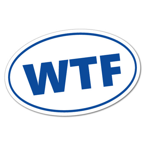 Wtf Oval Code Sticker