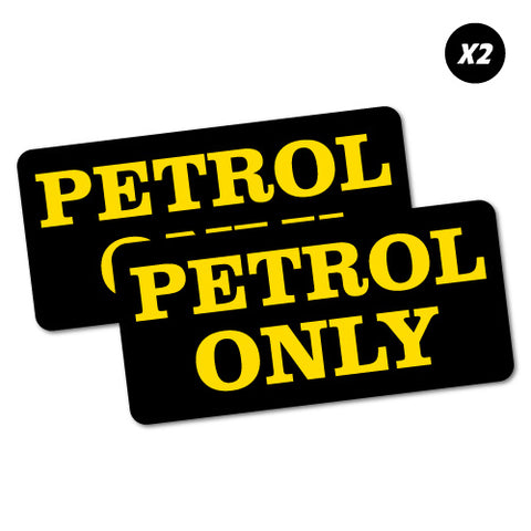 2X Petrol Only Fuel Sticker
