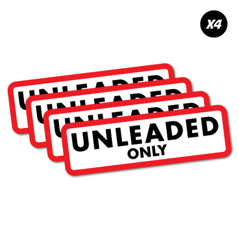 4X Unleaded Only Petrol Fuel Sticker
