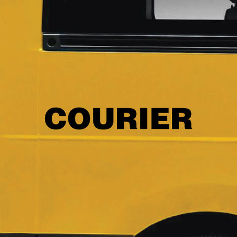 2X Courier Car, Van Or Truck Stickers