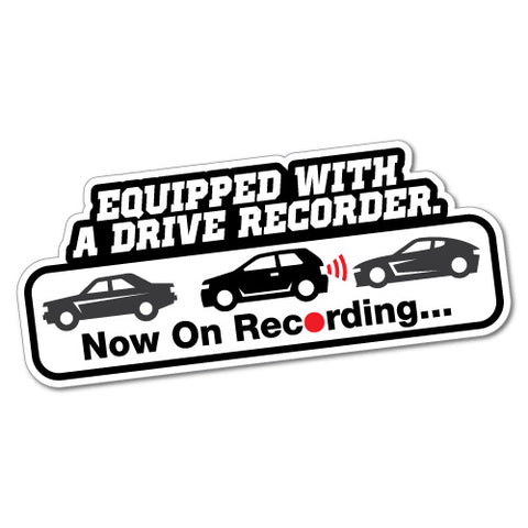 Equipped With A Drive Recorder Security Camera Sticker