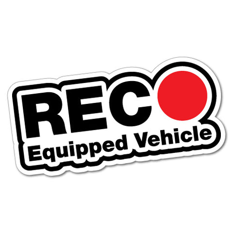 Equipped Drive Recorder Security Sticker