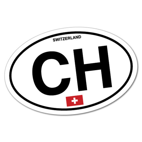 Ch Switzerland Country Code Sticker