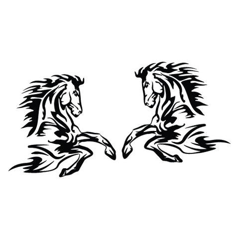 2X Horse Float Trailer Sticker