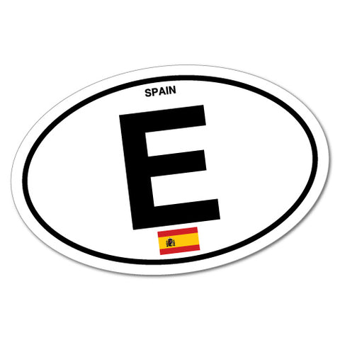 Spain Country Code Sticker