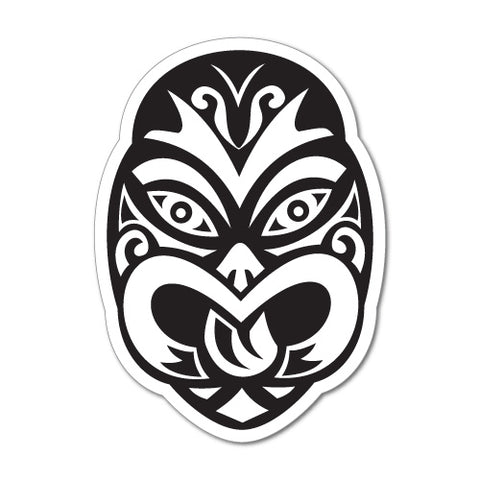 Maori Tiki Mask New Zealand Fuel Cap Sticker