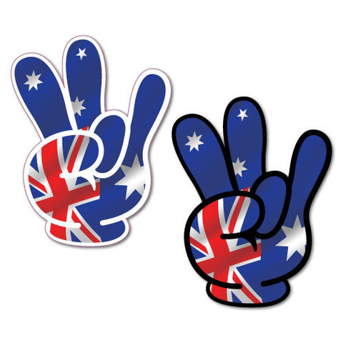 1 X Pair Aussie Shocker Hand Sticker