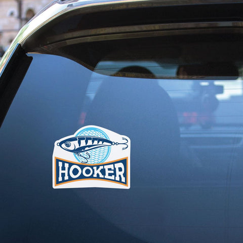 Hooker Sport Fishing Sticker Decal