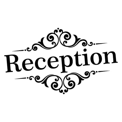 RECEPTION DOOR SIGN STICKER