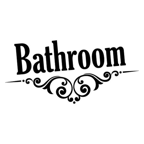 Bathroom Door Sign Sticker