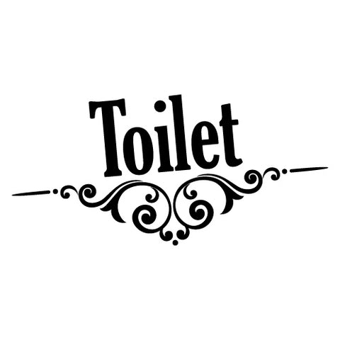 TOILET DOOR SIGN STICKER