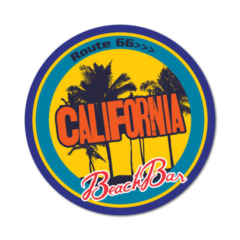 California Beach Bar Route 66 Sticker