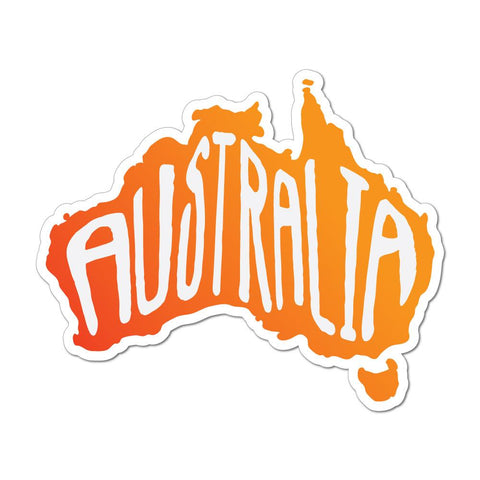 Vintage Australia Map Sticker Decal
