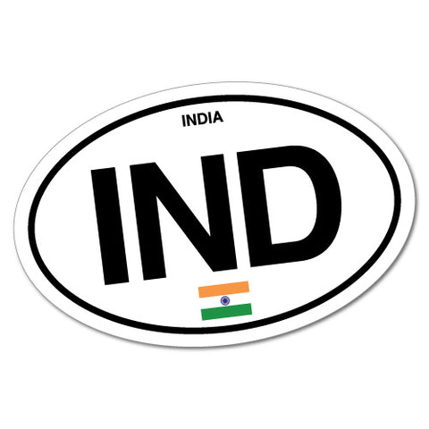 India IND Country Code Sticker
