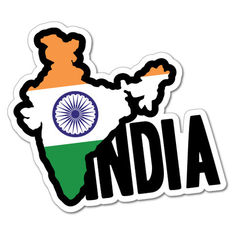 India Continent Flag Sticker