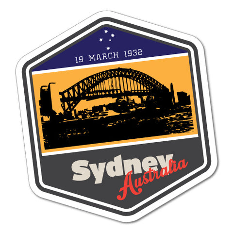 Australia Vintage Sydney Iconic Harbour Bridge Sticker