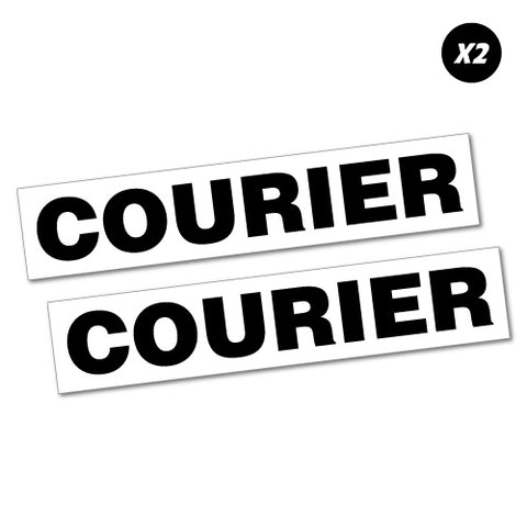 2x Courier vinyl Sticker Decal