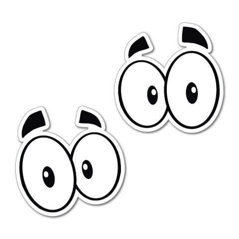 2X Eyes Car Laptop Helmet Sticker