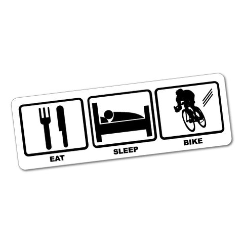Eat Sleep Bike Sticker