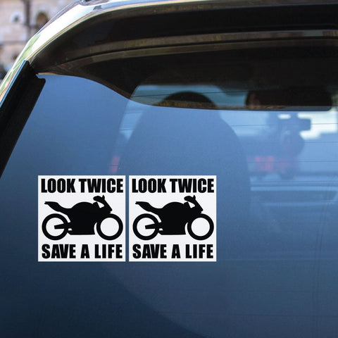 2X Look For Bikes Sticker Decal
