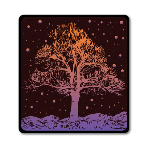 Magic hippie boho gypsy mythical trippy art tree earth  Car Sticker Decal