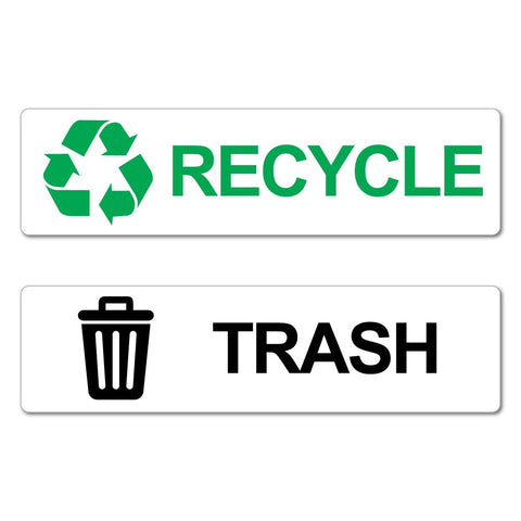 Recycle & Trash Recycle Bin Stickers Decal