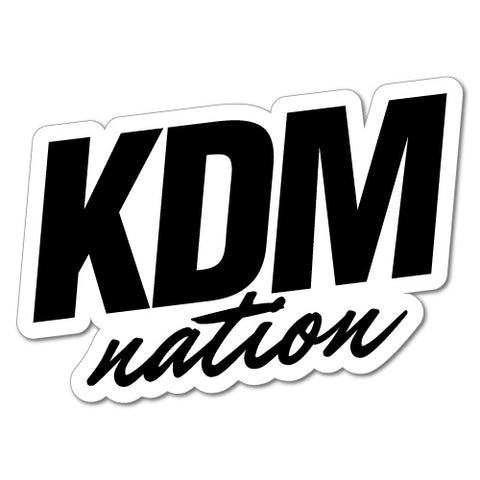Kdm Nation Sticker For Korean Kia Hyundai