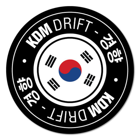 Kdm Drift Circle Car Sticker For Korean Kia Hyundai
