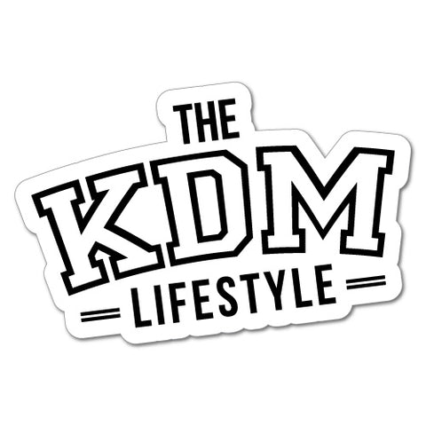 The Kdm Lifestyle Car Sticker For Korean Kia Hyundai