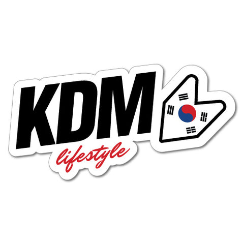Kdm Lifestyle Car Sticker For Korean Kia Hyundai