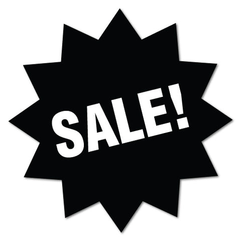 Black Sale Sign Zig Zag Sticker