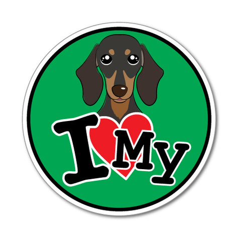 I Love My Dachshund Sticker