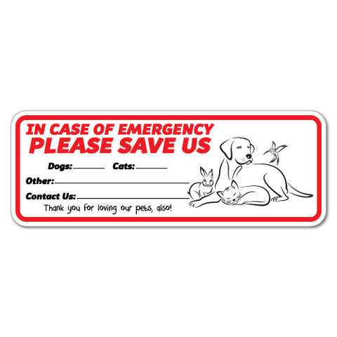 Please Save Us Emergency Sticker