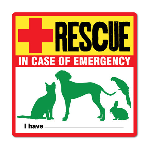 Rescue In Case Of Emergency Sticker