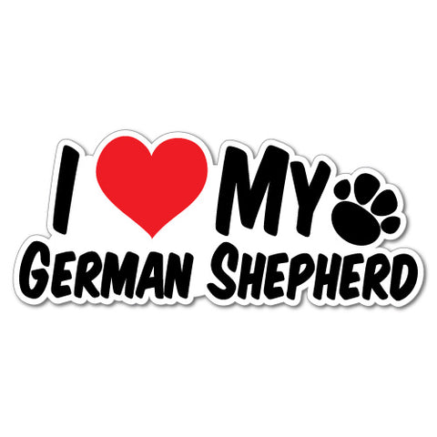I Heart My German Shepherd Sticker